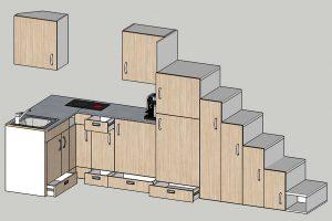 Rolling Tiny House Einbauküche